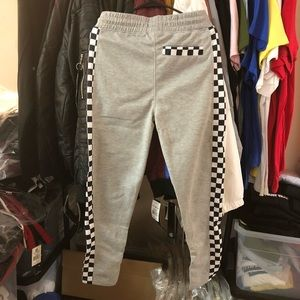 Pants - 🚫Sold🚫Checkered Track Pants - Grey